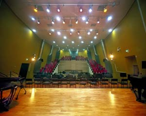 Inside the Albemarle auditorium