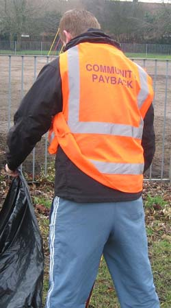 Community payback worker