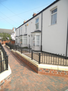 A different view of Cuthbert Avenue after improvements were made