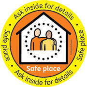 Safe Place logo and window sticker