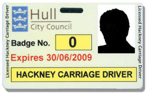 Hackney carriage driver's badge
