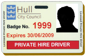 Private hire driver's badge