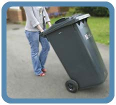 Put your black bin out by 7am on the day of collection