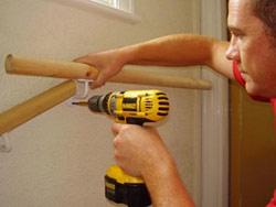 Attaching a grab rail