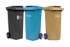 Waste and recyling bins